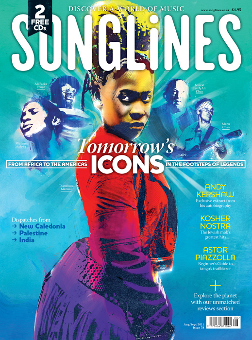 Songlines music magazine illustration by Danny Allison Illustration