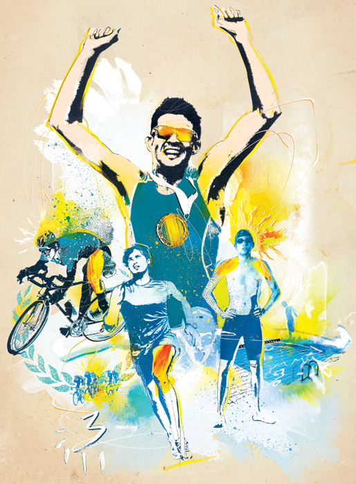danny allison illustration 220 triathlon