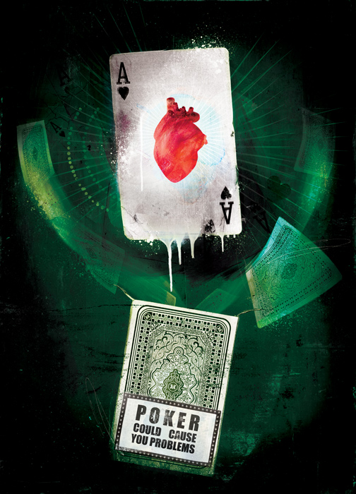 poker health illustration by danny allison illustration