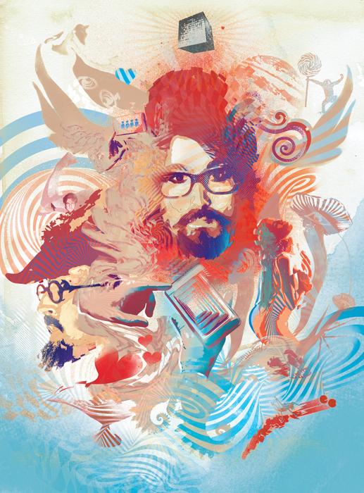 The Claypool Lennon Delirium album review illustration by danny allison illustrator