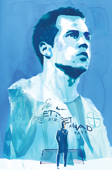 thomas sorensen football illustration for Melbourne football club australia by danny allison