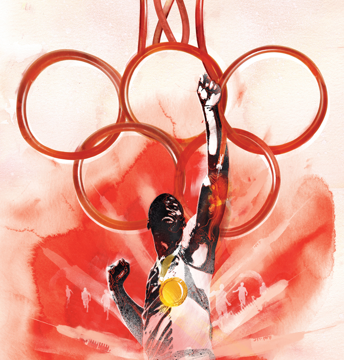Olympics Blood doping sports illustration, conceptual ideas illustration by danny allison.