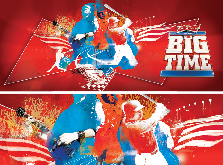 budweiser illustration big time campaign by danny allison illustration