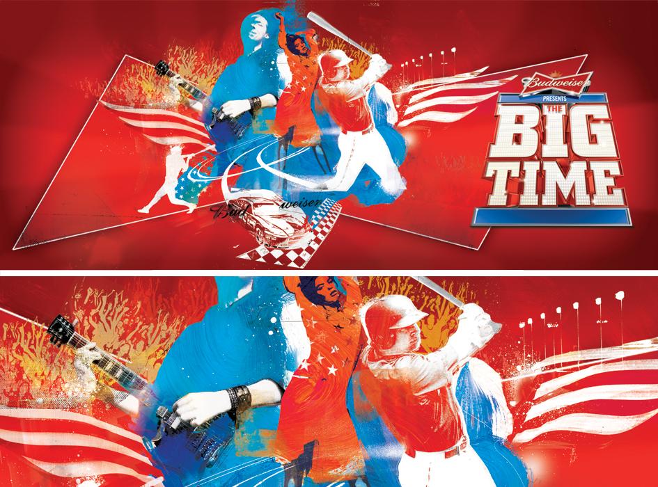 budweiser illustration big time campaign by danny allison illustration