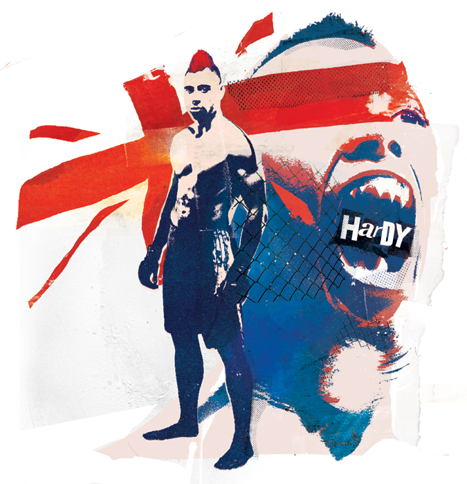UFC Dan Hardy Illustration