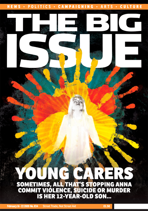 Big issue depression feature front cover illustration by danny allison