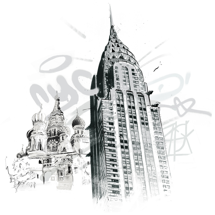 The empire state building illustration new york cityscape travel map illustration by danny allison illustrator