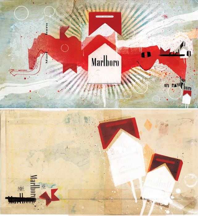 Marlboro smokes advert illustration by danny allison illustration illustrator