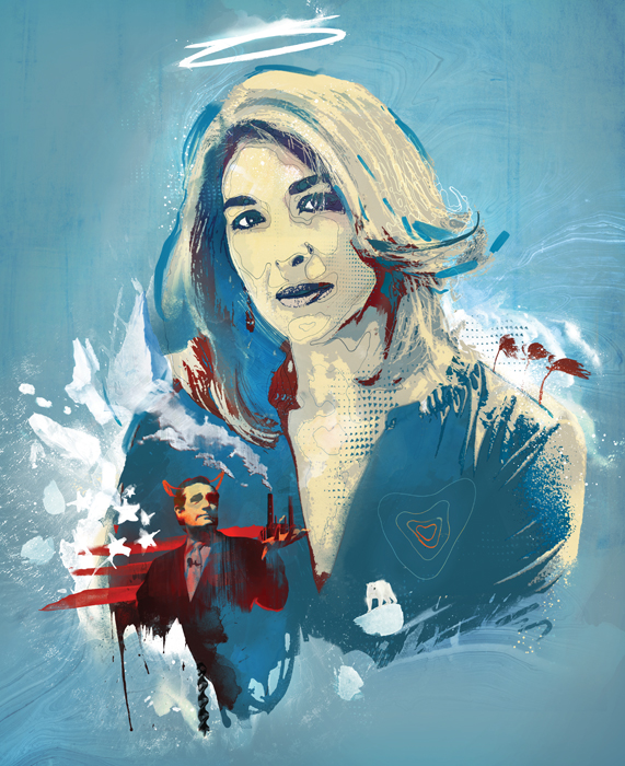 naomi klein climate change activist illustration by danny allison