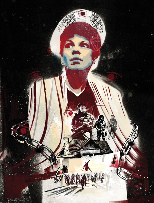natalia kaliada belarus free theatre activist fascism dictatorship police state russian russia propoganda rebel rebellion spray paint street art danny allison illustration
