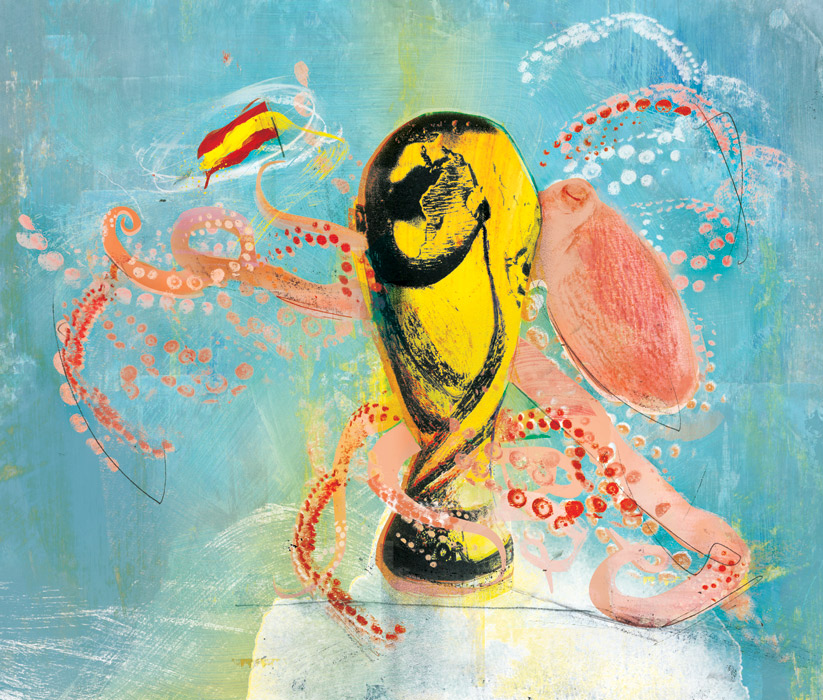 octopus paul illustration world cup football prediction soccer illustrator danny allison