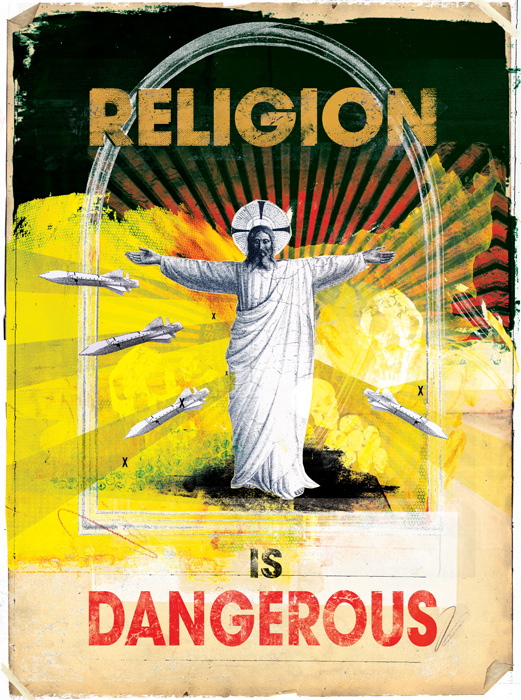 Religion is Dangerous big issue illustration by Danny Allison