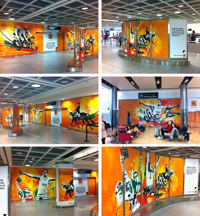 Renault Olympics advertising illustration Danny Allison Illustrator airport terminals
