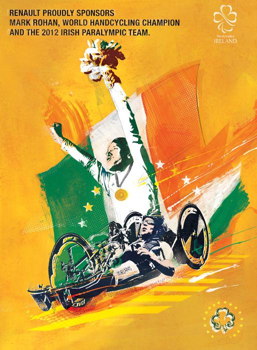 Renault Olympics advertising illustration Danny Allison Illustrator