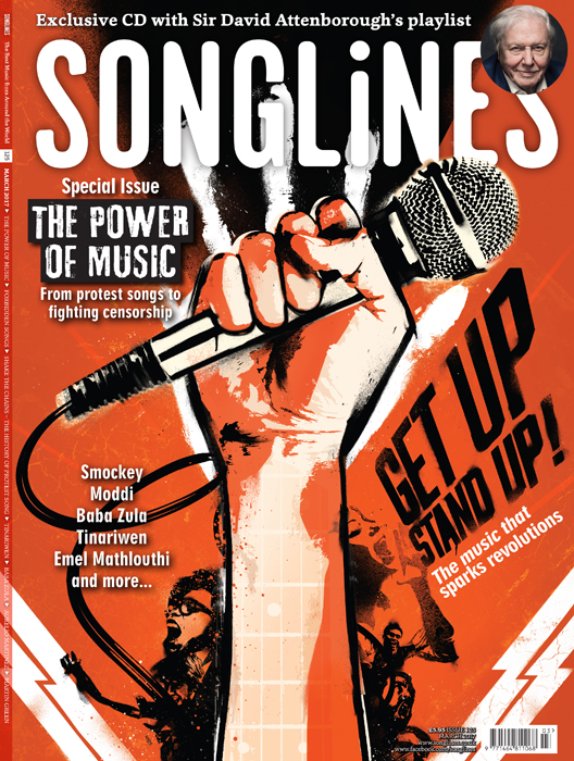 songlines musical propaganda revolution riot political front cover artwork illustration by danny allison illustrator