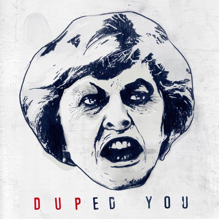 Ugly theresa may portrait illustration prime minister brexit dup by danny allison illustrator